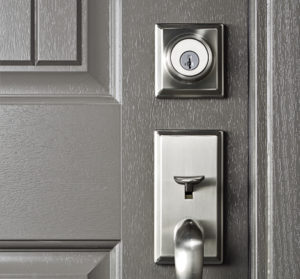 Door handle and deadbolt