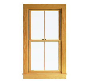 Window with wood frame