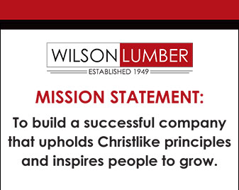 Mission Statement - To build a successful company that upholds Christlike principles and inspires people to grow.