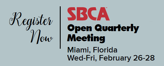 SBCA Open Quarterly Meeting - Register Now