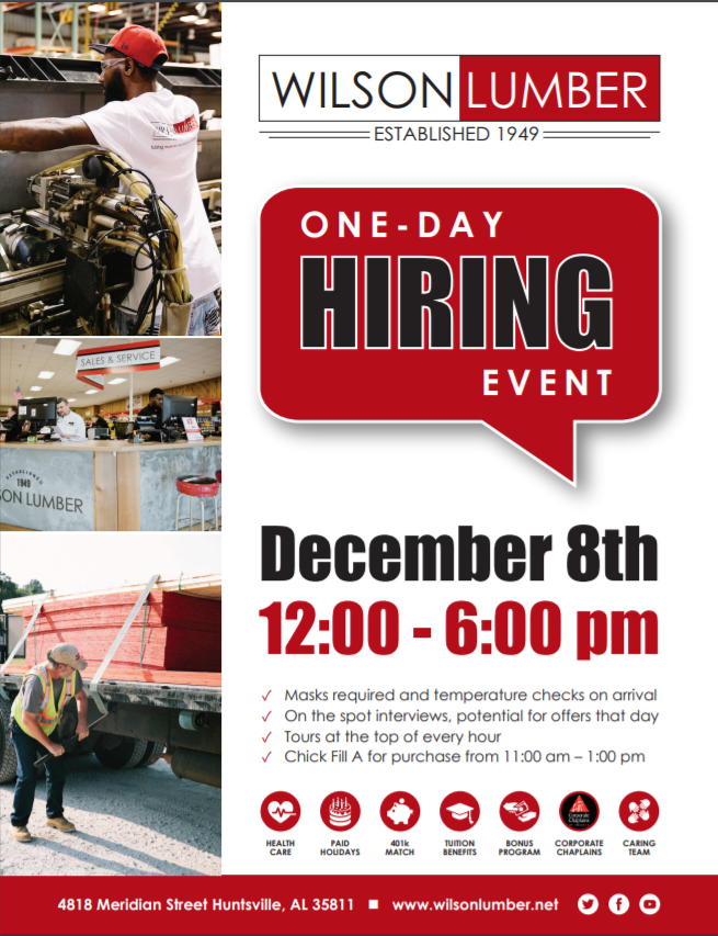 One Day Hiring Event Flyer